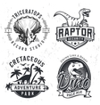 Set of Dino Logos Raptor t-shirt vector image