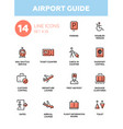 airport guide - modern simple icons pictograms vector image