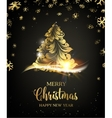 Christmas tree with sparks vector image