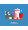 Going to the Movies Banner with Icons vector image