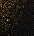 gold glitter falling confetti on a dark checkered vector image