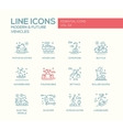 Modern and Future Vehicle - line design icons set vector image