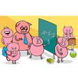 piglet cartoon characters at school vector image