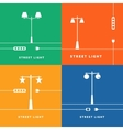Set 4 street lights and socket icon vector image