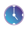 silhouette wall clock object design vector image