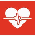The heart icon Cardiology and cardiogram ecg vector image