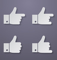 Thumbs up icon set vector image