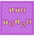 Its twins card with cubs vector image vector image