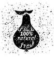 Pear Icon Typography Design with Lettering vector image