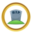 RIP on grave icon vector image