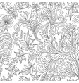 decorative vintage flowers seamless pattern good vector image