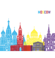 Moscow skyline pop vector image