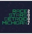 race stars typography t-shirt graphics vector image