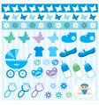 scrapbook elements with children accessories vector image vector image