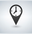 an isolated map mark with a clock vector image