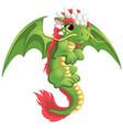 beautiful green dragon vector image