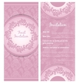 Invitation background wedding greeting card vector image