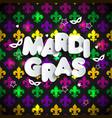 mardi gras decoration seamless pattern vector image