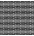 Seamless Black Brick Wall vector image