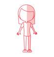 shadow women body cartoon vector image