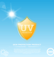 UV protection vector image
