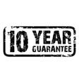10 year guarantee vector image
