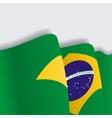 Brazilian waving Flag vector image