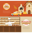 Bakery Horizontal Banners vector image