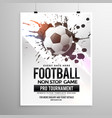 football soccer game tournament flyer brochure vector image