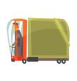 cartoon american truck cargo transport vector image