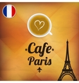 Cafe Paris vector image vector image