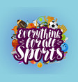 everything for all sports banner fitness sport vector image vector image