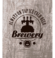 beer on wooden vector image vector image