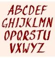Grunge font Look my portfolio for same design vector image