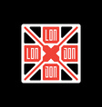 T-shirt with UK flag and inscription London vector image