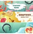 Seafood Menu Banners vector image