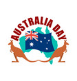 australia day emblem kangaroo australian flag and vector image