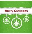 Christmas cannabis hemp congratulation vector image
