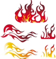 fire and flame graphic elements vector image