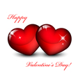 Of two red hearts vector image