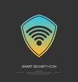 Smart protection connection the icon vector image