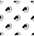 whistle football fanfans single icon in black vector image