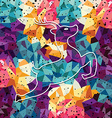 deer colorful mosaic pattern vector image