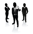 business people cd vector image vector image