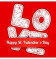 Happy St Valentines day card vector image