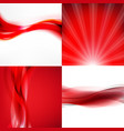 red banners set vector image
