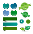 Empty Natural Product Green Labels - Tags - vector image