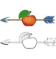 Arrow in Apple vector image vector image