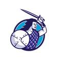 scottish hilander sword shield vector image