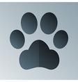 Pets footprint halftone stylized vector image